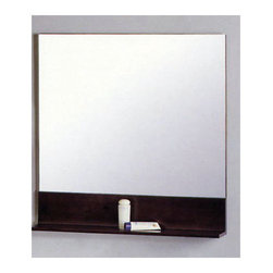 """Superiorbath - Bathroom Vanity Mirror - Features: -Vanity mirror. -Espresso finish. -Solid wood frame and backing. -Shelf for additional storage. -Surface mounted on wall. -Mirror with solid wood shelf underneath. -1 Year manufacturer limited warranty. Specifications: -28"""" Dimensions: 28"""" H x 28"""" W x 4.75"""" D. -32"""" Dimensions: 31.5"""" H x 31.5"""" W x 5"""" D."""