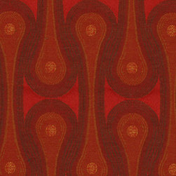 Design 9297 Scarlet Fabric - This soft floral fabric is very durable and provides a luxurious look and feel for any modern furniture piece.