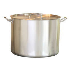 Cookpro - Stockpot 35-quart Stainless Steel - Now you can be ready to feed an army. Literally. This 35-quart, stainless steel stockpot is ideal for preparing food for large groups. Enjoy even heat distribution, stay-cool handles and lifetime durability with this easy-to-clean, large stockpot.