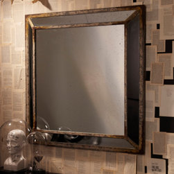 Gallery Antiqued Glass Wall Mirror - With a mix of contemporary and traditional elements, this mirror is a great addition to any space. It is square, which is less conventional, and the antiqued details allow it to have an aged and collected feel to it.