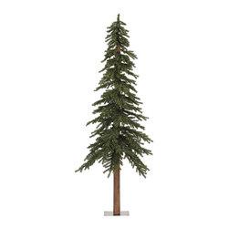 "Vickerman - Natural Alpine Tree 921T (7'x 44.5"") - 7' Tree W/ 921 Tips, 100%Pvc, 0.07+0.11+0.11Mm Thickness, In Bmd Base, 42"" Girth"