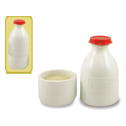 The Retro Milk Bottle Cream & Sugar Set - It's hard to deny the vintage charm of this retro milk bottle set that comes with a glass bottle to store cream and a cup below to hold sugar. I'm totally inspired to have a dinner party where I can serve coffee with this sweet set.