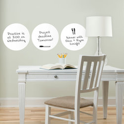 Back to School 2014 - Trendy and chic office decor idea with white dry-erase message dots. Would look great in a dorm room or teen decor as well