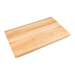 """John Boos - 1.5"""" Thick Maple Edge Grain Countertop  121L in. x 25W in. - Butcher Block Countertops - Edge-Grain Maple, 1-1/2"""" Thick"""