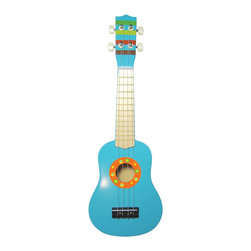 Sassafras - Ukulele, Bright Stripe - Budding musicians can hone their musical skills early with these kid-sized musical instruments. Each instrument is sure to not only help develop a sense of musical timing, but is great fun as well!