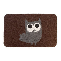 KIKKERLAND Owl Doormat - This is such a cute and fun way to welcome guests.