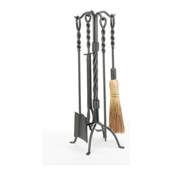 WOODFIELD - Woodfield 4-piece Vintage Iron Twisted Rope Tool Set - Woodfield 4-piece Vintage Iron Twisted Rope Tool Set