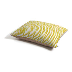 Allyson Johnson Chartreuse Dog Bones Dog Bed - Perfect for dogs, cats,heck, even a pig! With our cozy pet bed made of a fleece top and waterproof duck bottom, you're bound to have one happy animal catching some zzzz's in ultimate comfort.