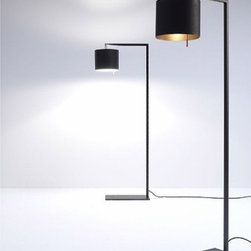 "Anta - Anta Afra floor lamp - The Afra floor lamp by the German manufacturer Anta is an elegant reading lamp. The base fits perfectly beneath a chair or a sofa. All Elements are made of steel manufactured in matt black color while the inside of the bellied lampshade is held in gold or silver. Afra donates a very soft light and is by its very subtle form a very decorative interior piece.   Product Description: The Afra floor lamp by the German manufacturer Anta is an elegant reading lamp. The base fits perfectly beneath a chair or a sofa. All Elements are made of steel manufactured in matt black color while the inside of the bellied lampshade is held in gold or silver. Afra donates a very soft light and is by its very subtle form a very decorative interior piece.                          Manufacturer:             Anta                            Designer:                         Anta                                         Made in:            Germany                            Dimensions:                         Projection: 20.5"" (52cm) x height: 55"" (140 cm)                                         Light bulb:                         1 x max. 100W incandescent                                         Material:             metal"