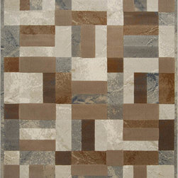 """Home Dynamix - Home Dynamix Fresco, Gray, 7'10""""x10'4"""" Rug - With both contemporary and transitional area rug styles, the Home Dynamix Fresco Area Rug collection offers elegant area rug designs that are sure to compliment your decor. Featuring an earth-tone palette comprised of blues, beiges, and browns these exceptional area rugs are the ideal accent piece for any room. Made in Turkey, their 100-percent Heat Set Polypropylene, machine-made construction means each area rug is carefully crafted to offer you years of use and enjoyment."""