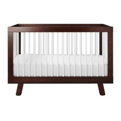 Serena & Lily - Hudson Crib Espresso/White - Super simple and sophisticated, this is a nice alternative to traditional crib design. The subtle flair of splayed legs add a nice touch to the mid-century look. We love it with the palest of palettes or colors bold and bright.