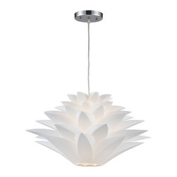 Inshes White Flower Leaf Pendant Chandelier by Sterling 143-001 - ORDER ON HOUZZ TODAY FROM LEE LIGHTING.