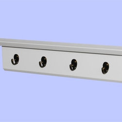 Coat Hanger Shelf, Wall Floating Shelves with Hook - You will receive a white floating wall shelf with four hooks, which is made from MDF.