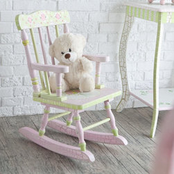 Fantasy Fields - Fantasy Fields Crackled Rose Rocking Chair Multicolor - W-5686G - Shop for Vanities from Hayneedle.com! Sweet and elegant theTeamson Design Crackled Rose Rocking Chair combines classic floral detailing with a traditional gingham pattern. This solid wood rocking chair features hand-painted pink green and gold hues as well as a unique Crackled finish for an aged appearance. It is recommended for children age 3 to 6. About Teamson Design Corp.Teamson is a wholesale gift and furniture company based in Edgewood New York. Known for their wide selection of products Teamson has been providing for customers since 1997 and produces high quality items that are sure to delight you and your family. Trust in Teamson for all of your home decor furniture and gift-giving needs.