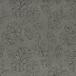 Grey Floral Microfiber Upholstery Fabric By The Yard - This microfiber upholstery fabrics is great for all residential, contract, hospitality and automotive purposes. Our microfiber fabrics are stain resistant, heavy duty and machine washable. This pattern is non-directional.