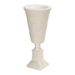 Unique and Royal Fiber Glass Pearl Vase - Description: