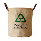 100 Natural Linen Ecofriendly Storage Basket by Be Inspire - Teach your children the concept of ecofriendliness at a young age with this natural linen storage bin. It's sure to match any decor.