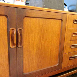 Credenzas - Restored 1960s teak credenza by Kofod Larsen for G Plan.  Use for a flat screen, as a sideboard in a dining room, anywhere you need stylish storage.