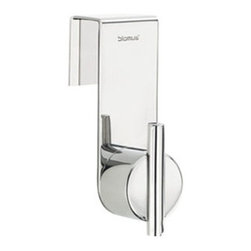 Blomus - DUO Over Door Hook - The DUO Over Door Hook with its sleek, geometric design helps you keep organized with modern flair. This clever hook requires no installation, so you can take it anywhere you may need it. Just place it over any door and you'll be hooked.