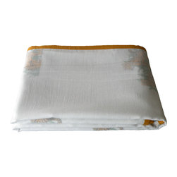 Baby Baazaar Inc. - Layered Muslin Baby Blanket - Intrepid tigers are majestic and always appealing to kids. Give the gift of this layered muslin baby blanket festooned with the big cats. The loosely Bengal-woven cotton fabric is breathable cotton, perfect for your little tiger cub.