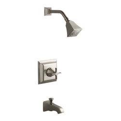 KOHLER - KOHLER Memoirs Stately Rite-Temp Pressure-Balancing Bath and Shower Faucet Trim - KOHLER K-T461-3S-BN Memoirs Stately Rite-Temp Pressure-Balancing Bath and Shower Faucet Trim with Cross Handle in Brushed Nickel