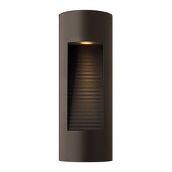 """Hinkley Lighting - Hinkley Lighting 1660-LED Two Light 16.75"""" Tall Dark Sky LED Outdoor Wall Sconce - Contemporary / Modern Two Light 16.75"""" Tall Dark Sky LED Outdoor Wall Sconce from the Luna CollectionThe Luna LED outdoor wall sconce will enhance the warm and welcoming entrance to your home. The contemporary sconce is ADA compliant Dark Sky compliant and features dual light sources (top and bottom), decorative washboard reflector, solid aluminum construction and a height of 16.75"""". The LED panels are fully integrated and the driver is built into the fixture. View the complete Luna collection to for all the sizes and options that are available. Accentuate the beauty of your property while enjoying the superior materials and craftsmanship of Hinkley Lighting fixtures.Features:"""
