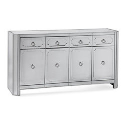 "Basett Mirror - Chapman Server - Chapman Server features four mirrored Drawers and four mirrored doors . 70"" x 20"" x 38"" H"
