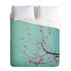 DENY Designs - Happee Monkee Red Stars Duvet Cover - Turn your basic, boring down comforter into the super stylish focal point of your bedroom. Our Luxe Duvet is made from a heavy-weight luxurious woven polyester with a 50% cotton/50% polyester cream bottom. It also includes a hidden zipper with interior corner ties to secure your comforter. it's comfy, fade-resistant, and custom printed for each and every customer.