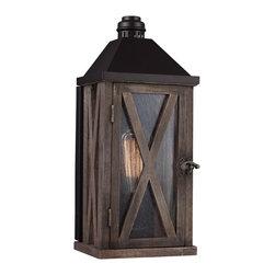Feiss - Feiss OL17000DWO/ORB Lumiere' 1 Light Dark Weathered Oak Outdoor Wall Sconce - Finish: Dark Weathered Oak