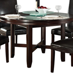 Steve silver steve silver hartford 52 inch round dining for Only dining table online