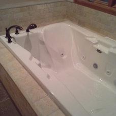 Mediterranean Bathroom by Simply Beautiful Remodeling, LLC