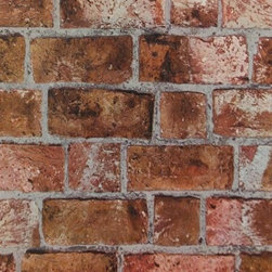 York Wallcovering - Orange Textured Brick Wallpaper, Orange/Rust, Sample - Feel free to order a sample of this wallpaper to make sure it is the perfect fit for your room. You will be shipped a sample pattern that measures approximately  8 inches wide x 10 inches long.