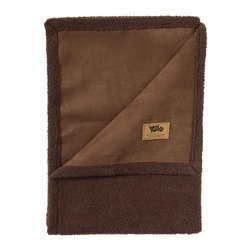 West Paw Design - Big Sky Blanket Dog Bed in Coffee Bean Brown , Large - West Paw Design's Big Sky Blanket® for pets is hand sewn in Montana and these super plush blankets have faux suede on one side and silky fabric on the other. Available in home decor-friendly colors and big sizes to keep dog's dirt, dander and drool off couches, chairs, beds and backseats. So snuggly customers may want to buy two - one for themselves and one for their furry friends. Machine washable (cold) and tumble dry. Made in Montana, USA