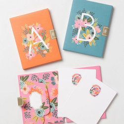 Monogram Note Cards - These bright note cards are a sweet and simple way of adding your own personal touch to a note.