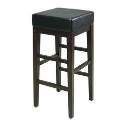 "Office Star - Office Star Metro 30"" Square Bar stool in Black and Espresso - Office Star - Bar stools - ES30VS3"