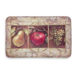 Home Dynamix/division Of Emerem,inc - Calm Chef Anti-Fatigue Tuscan Kitchen Mat - Enjoy the good life in your kitchen with this beautiful kitchen mat that features fruit images in pure Tuscan style. The mat includes anti-fatigue capabilities to help relieve standing for long periods of time and a non-skid gripper back.