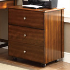 Coaster - Jacqueline Cabinet, Walnut - Perfect for small spaces, our Jacqueline collection offers the best blend of style and function. This desk, which fits nicely in corner spaces, features a curved front making it easier and more comfortable to work at. It also has a built-in corner hutch with one drawer and storage compartments. Add more storage space with a matching three tiered bookshelf with a cabinet at the bottom, or a file cabinet on caster wheels. Available in a walnut and cappuccino finish in two styles.