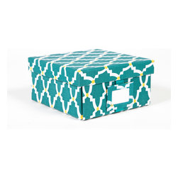 Working Class Studio - Re-Gift Collection Lattice Box, Teal, Small - It IS better to give than receive — especially when you use a package as pretty as this. Not only will your present be appreciated, the box is bound to serve for storing letters, mementos, whatever.
