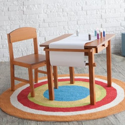 Guidecraft Art Table and Chair Set - Honey