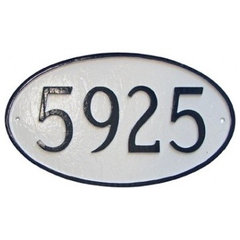 traditional house numbers by Montague Metal