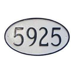Oval Style Address Plaques - Now isn't this much better than those cheesy brass numbers you buy at the big box stores? Of course it is. Plus, several classy styles are available.