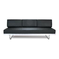 Fine Mod Imports - Flat Le Corbusier Black Sofa Bed - Features: