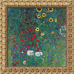 Farm Garden with Sunflowers, c. 1906  by Gustav Klimt
