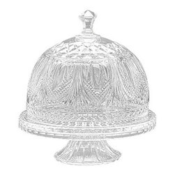 """Godinger Silver - Kensington Domed Cake Plate - Serve your favorite cake, pie or other dessert on this elegant plateau. It will leave a favorable, and  lasting impression with your guests.Keep your cakes fresh and give your counter top a sophisticated look!*dimensions: Measures approx: 11"""" diameter, 10"""" high. Base 12""""."""