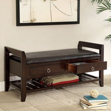 Modern Upholstered Benches by Hayneedle
