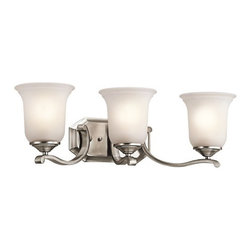 "Kichler - Kichler 45403CLP Wellington Square 24"" Wide 3-Bulb Bathroom Lighting Fixture - Product Features:"