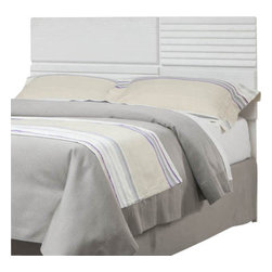 Standard Furniture - Standard Furniture Action Panel Headboard in White - A combination of smooth and textured white surfaces on clean square profiles creates actions distinctive modern look.