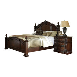 Standard Furniture - Standard Furniture Churchill 5-Piece Poster Bedroom Set in Antique Bronze - Magnificent details give Churchill Bedroom a grand and stately character that's sure to create a stunning master retreat in today's traditional home.