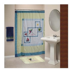 Patch Magic - Summer Fun Cz Shower Curtain - 72 in. W x 72 in. L. 100% Cotton. Handmade. Machine washable. Line or flat dry only