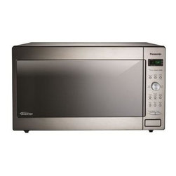 Panasonic - 1250W, 2.2 Cu Ft. Sensor, Stainless Front and Silver Body, Dial Co - The Panasonic NN-SD972S 2.2 Cu. Ft. 1250W Genius Sensor Microwave Oven with Inverter Technology is perfect for the countertop or built-in installation. Unlike other microwave ovens, Inverter technology delivers a seamless stream of cooking power, even at lower settings, for precision cooking that preserves the flavor and texture of your favorite foods. With Inverter, you can poach, braise and even steam more delicate foods, all with the speed and convenience of a microwave! With the touch of our Genius Sensor cooking button, this microwave takes guesswork out of creating a great meal by automatically setting power levels and adjusting cooking or defrosting time. The sensor measures the amount of steam produced during cooking and signals the microprocessor to calculate the remaining cooking time at the appropriate power level. Plus with Turbo Defrost, you can thaw foods faster than ever!